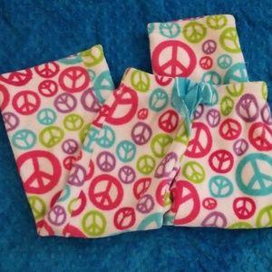 Bright peace fleece pants